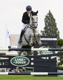Harry Dzenis and XAM - show jumping phase, Burghley Horse Trials 2014.