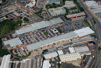 aerial photograph of Crown Point Shopping Park.Junction St, Leeds, West Yorkshire LS10 1ET, United Kingdom ?