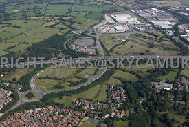 Preston aerial photograph of the development of The Red Rose Hub and the Red Scar Business Park and the Red Scar Industrial Estate