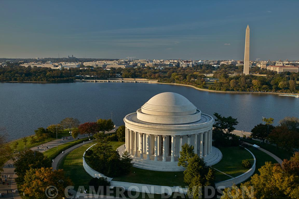 Aerial Photograph of the Jefferson Memorial