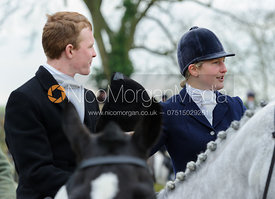 Will Grant and Holly Campbell - The Cottesmore Hunt at Hill Top Farm 10/12/13