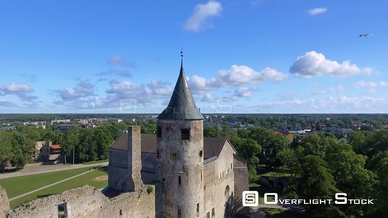 Haapsalu Castle Drone Video Estonia