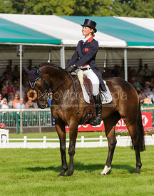 Polly Jackson and HIGHLAND CHARM - dressage phase,  Land Rover Burghley Horse Trials, 5th September 2013.