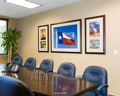 Framed Photography in conference room