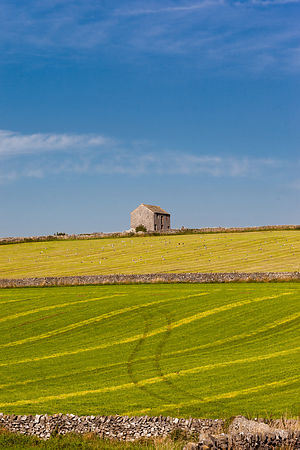 Barn in bright field near Monyash
