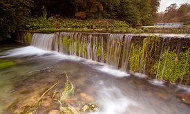 The terraced waters in the dale at Lathkill