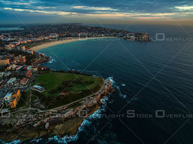 Bondi Beach and Mark's Park at dawn. Sydney Australia