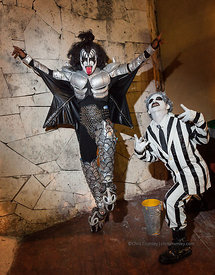 Gene Simmons of Kiss costume at Margaritaville, Cozumel, Mexico Carnival