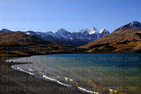 Tuni reservoir and Mt Condoriri, Cordillera Real, Bolivia