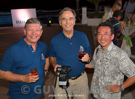 Sailing photographers' conference: Guy Nowell, Daniel Forster, Yoichi Yabe. Rolex China sea Race 2016 (RHKYC).