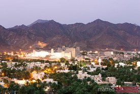 Bahla fort at dusk, Oman