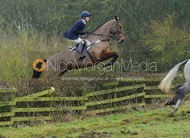 Rachel Finnegan jumping a hedge at Town Park Farm