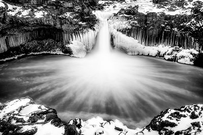 Aldeyarfoss Black and White