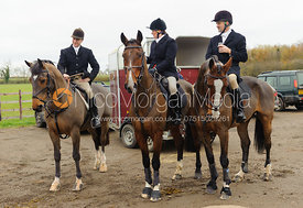 Followers at the meet - The Cottesmore Hunt at Ranksboro, 26-11-13.
