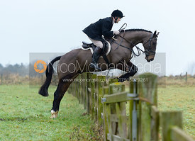 Jeremy Dale jumping a hunt jump at Goadby Hall