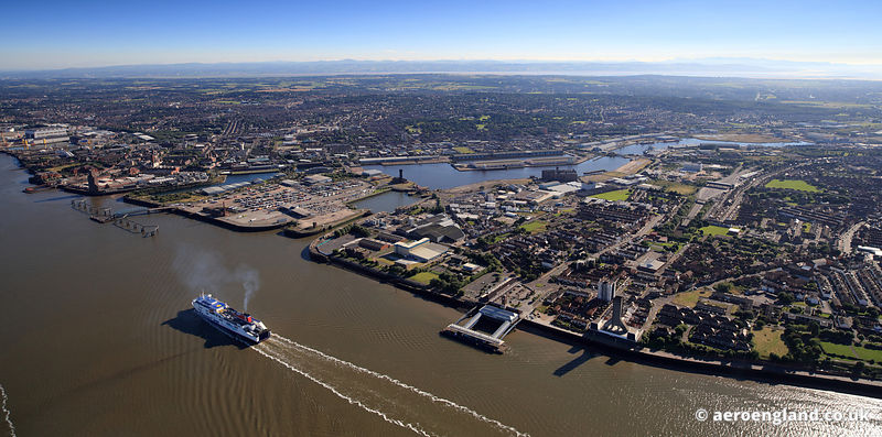 Merseyside aerial photo of Londons
