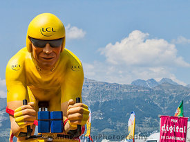 LCL Yellow Cyclist Mascot