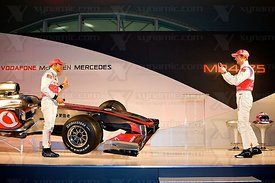 Lewis Hamilton (GBR), Jenson Button (GBR), McLaren MP4-25 Launch, Newbury, GB, Vodafone, Mercedes