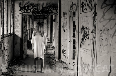 Ghost in a hospital with white dress