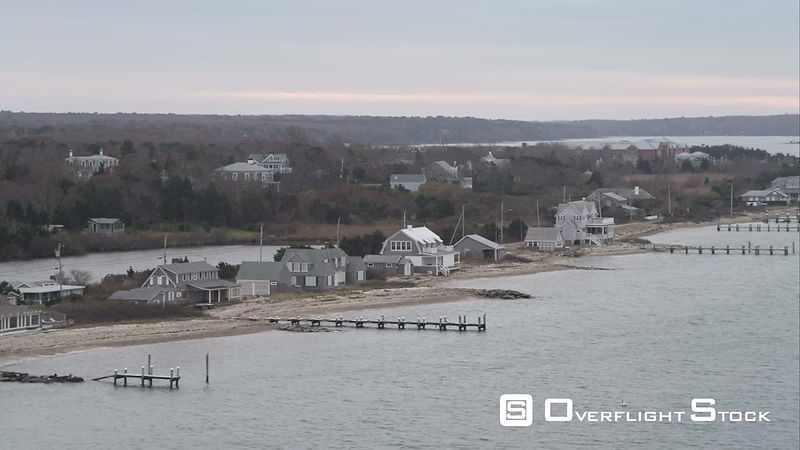 Residential Area North of Oak Bluffs on Martha's Vineyard, Massachusetts. Shot in November