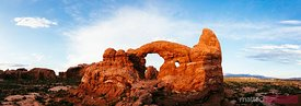 Turret arch at sunset, Arches NP, Utah, USA