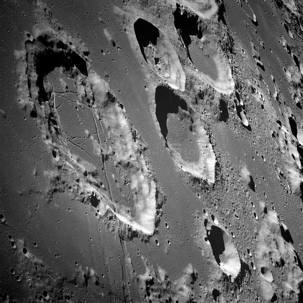 21-27 Dec. 1968) --- This oblique view of the lunar surface was taken from the Apollo 8 spacecraft looking southward toward Goclenius and other large craters