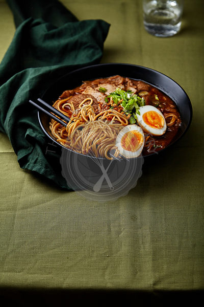 Japanese ramen with pork belly