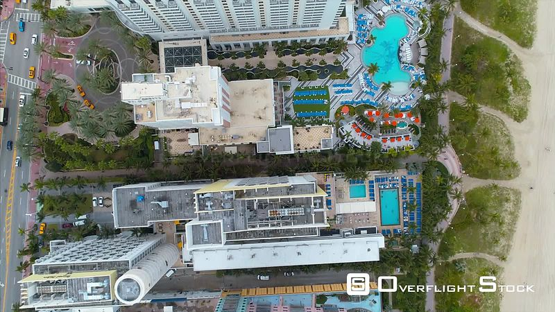 Drone Video South Beach Homes and Hotels Miami Florida