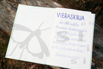 Guest Book in Hiking Trails´ Shelter