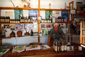 Don Tomas in his bodega wine shop, Villa Abecia, Chuquisaca Department, Bolivia
