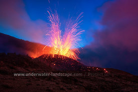 Volcano at Blue Hour