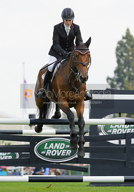 Sarah Bullimore and REVE DE ROUET - show jumping phase, Burghley Horse Trials 2014.