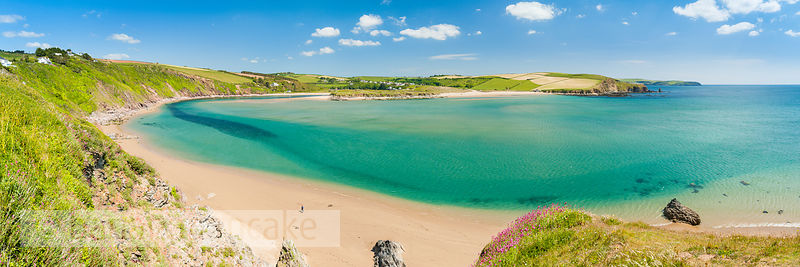 Panoramic view of Bantham, Devon (BP5349)