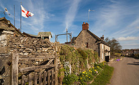 St George's Day in Tissington, Derbyshire