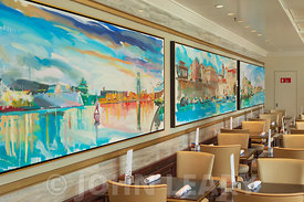 Artwork in one seating area of the Kings Court Buffet Restaurant.