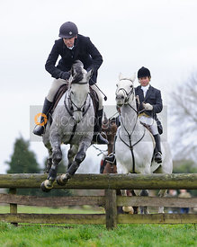 Alex Brooman-White jumping a hunt jump from the meet