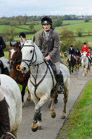 Hunt followers - The Cottesmore Hunt at Somerby, 2-11-13