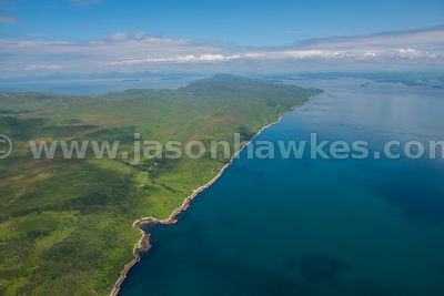 Aerial view of Jura, Inner Hebrides, Scotland