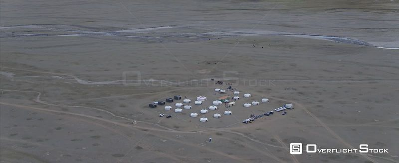 Drone Video Tourist Camp South Gobi Mongolia