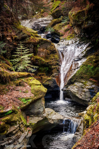 Scottish burn waterfall