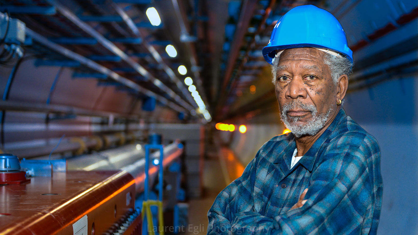 Morgan Freeman Visits CERN