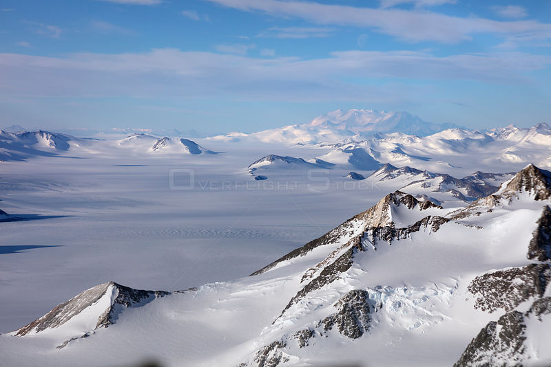 Aerial view of Transantarctic  mountains, taken en route  from the South Pole to Union Glacier.