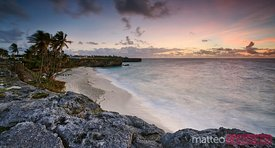 Bottom bay beach at sunrise, Barbados, Caribbean