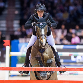 Bordeaux, France, 4.2.2018, Sport, Reitsport, Jumping International de Bordeaux - Grand Prix LAND ROVER .Trophée MAIRIE DE BORDEAUX. Bild zeigt Gudrun PATTEET (BEL) riding Sea Coast Pebbles Z (5*)...4/02/18, Bordeaux, France, Sport, Equestrian sport Jumping International de Bordeaux - Grand Prix LAND ROVER .Trophée MAIRIE DE BORDEAUX. Image shows Gudrun PATTEET (BEL) riding Sea Coast Pebbles Z (5*).