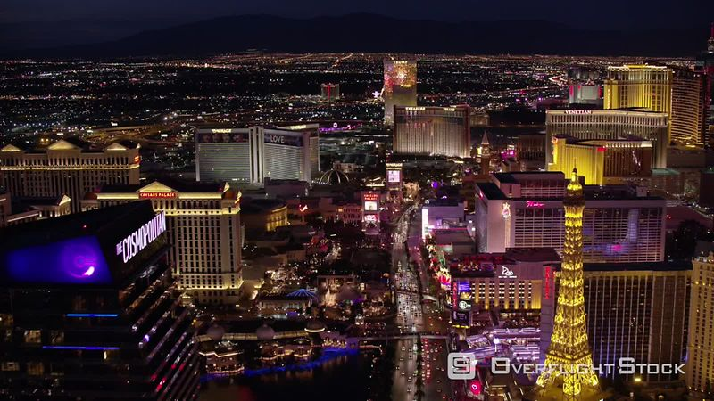 Las Vegas, Nevada Flying directly over the Las Vegas Strip.  Shot with Cineflex and RED EpicW Helium.