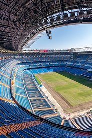 Bernabeu Real Madrid soccer stadium, Madrid, Spain