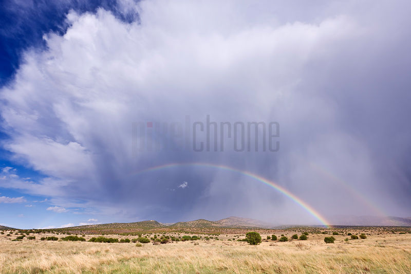 West Texas Storm Cloud and Rainbow