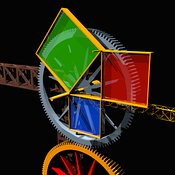 Pythagoras' Theorem Steampunk Mathematical Machine