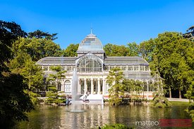 Crystal palace in Buen Retiro park, Madrid, Spain