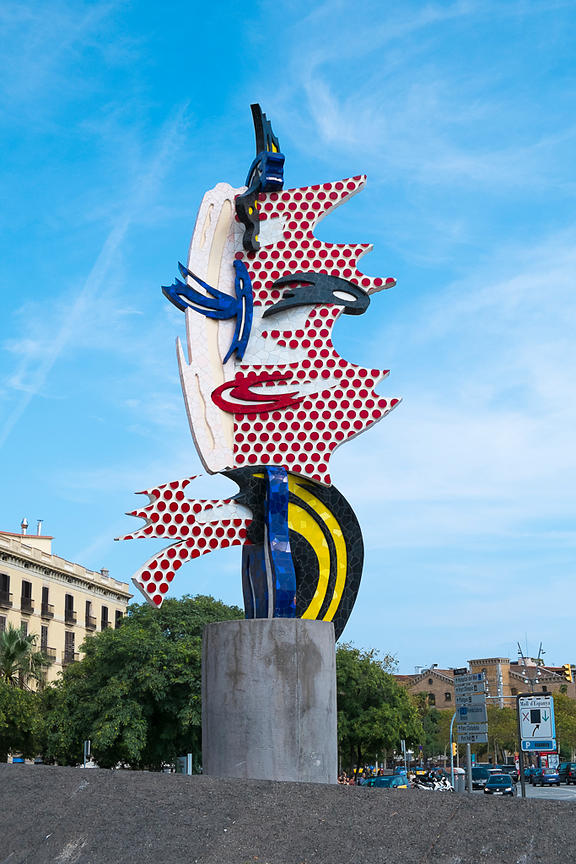 The Head of Barcelona by Roy Lichtenstein